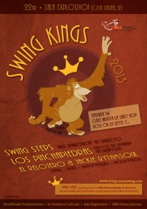 Cartel de Swing Kings 2013